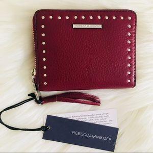 NWT Rebecca Minkoff Mini Ava Zip Wallet Micro Stud